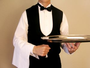 Zachowanie kelnera w restauracji